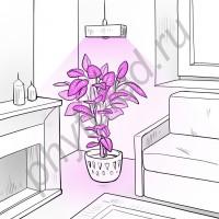 """Лампа светодиодная для растений """"Альтерф"""" 30 Вт с цоколем (Е14/Е27/Е40/(аналог китайской фито лампы мощностью 54W)"""