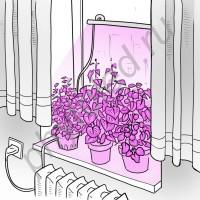 """Оконная светодиодная лампа для растений """"Васат"""" 30Вт"""