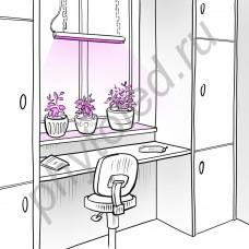 """Мощная светодиодная фитолинейка для рассады, цветов и аквариумных растений """"Кастор"""""""